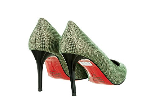 Trix Green Glitter Decolletè Mori Gianrico Fabric qWwnTzP5P