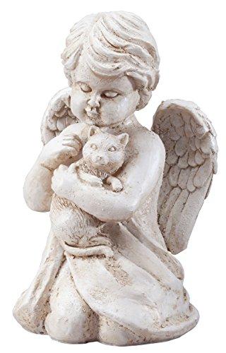 Angel with Cat Memorial Statue