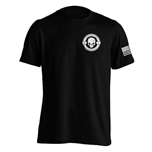Divided We Fall Military Sniper Skull T-Shirt X-Large Black