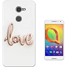 003297 - Love balloon rose gold Design alcatel A3 XL 6inch CASE Gel Silicone All Edges Protection Case Cover
