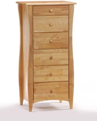 Night Day Furniture 6 Drawer Clove Lingerie Chest in Natural Finish