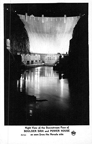Boulder Dam Nevada Power House Frasher Real Photo Antique Postcard K51264