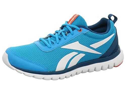 Reebok Ar3275 - Zapatillas de running de Material Sintético para niña WILD BLUE/NOBLE BLUE/FLUX ORANGE/WHITE
