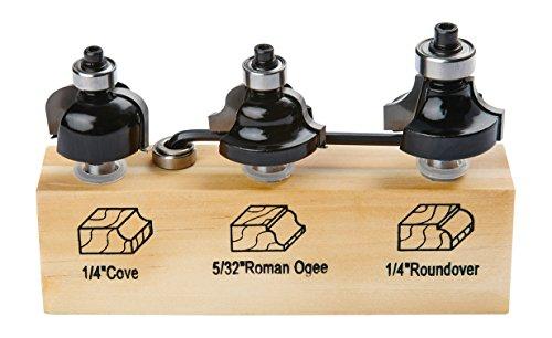 - Irwin Tools 1901046 Marples Decorative Edge Router Bit Set (3 Piece)