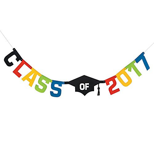 Fun Express Graduation Class of 2017 Jointed Party Decoration Garland (Fun Graduation Party Games)