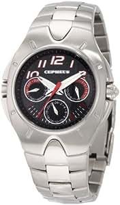CEPHEUS CP503-191B - Reloj de caballero de cuarzo, correa de acero inoxidable color plata