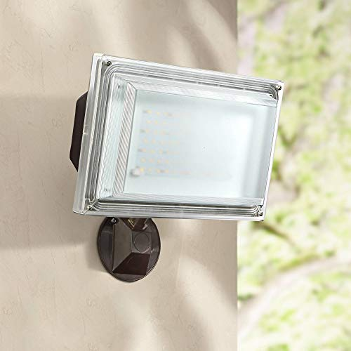 42W LED Flood Light with Photocell Sensor 120V Bronze Finish Amax Lighting LED-FL55BZ