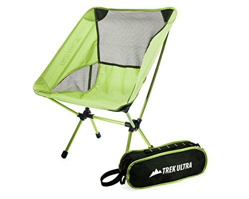 TrekUltra Camping Fold Up Chairs with Bag - Portable Lightweight Heavy Duty Compact - Great for Sporting Motorcycling Backpacking Kayaking Outside Chair for Concerts Beach or Park