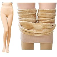 Alexvyan Warm Women Thick Fur Lined Fleece Legging Warm Winter Thermal Soft Leggings