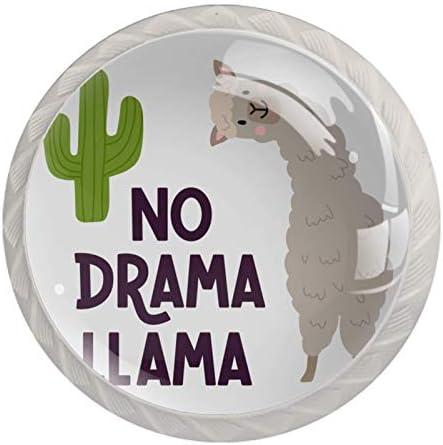 Ladegrepen Kabinetknoppen Rond Pack van 4 voor kast lade borst dressoir etcGeen Drama Llama