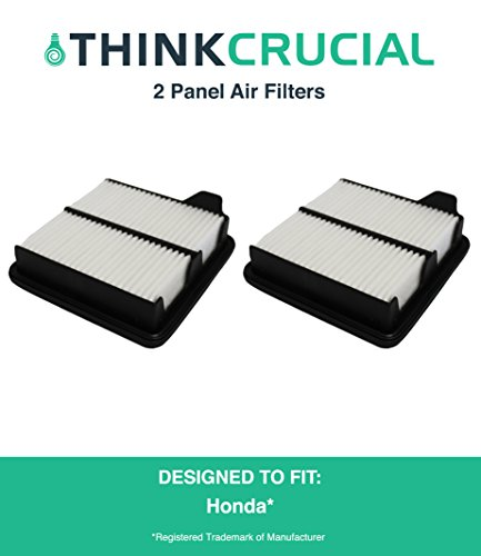 "Cheap 2 Replacements for Honda Panel Vehicle Air Filter, Maximum Air Flow, 2.25"" x 6.54"" x 6.97"" in., Compatible With Part # A26052 & CA10650, by Think Crucial for sale"