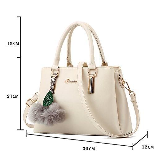 del carpeta salvaje las de bolso nuevo simple del la conmute del Blanco del de Bolso bolso de mujeres hombro mensajero bolso Tisdaini HXIqpg