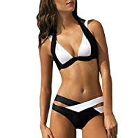 Boomboom Plus Size Two Pieces Bandage Bikinis Swimsuits for Women