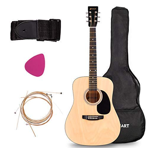 Acoustic Folk Guitar, Safeplus Multi-color Beginners 6 Strings Guitar with Guitar Case, Strap, Guitar pick, Tune by Safeplus
