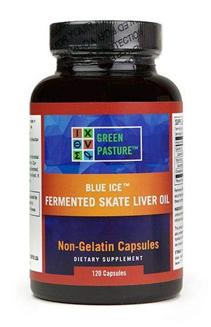 Blue Ice Fermented Skate Liver Oil 120 Caps  (Package may vary) ()