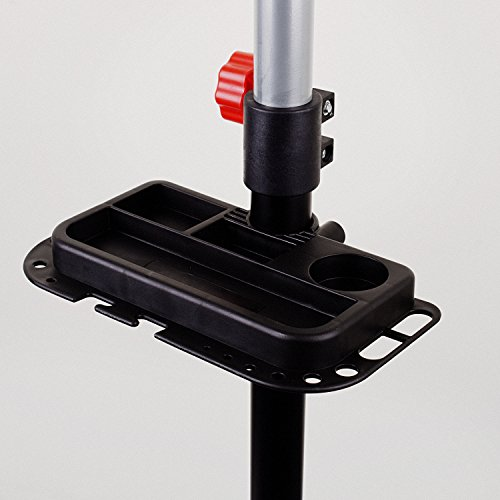 Hromee Portable Pro Mechanic Bike Repair Stand,Adjustable Height Bicycle Maintenance Rack Workstand With Tool Tray by Hromee (Image #3)