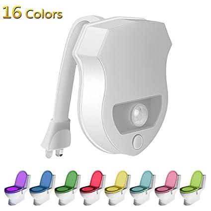 yunhigh 16-color LED automática de sensor de movimiento WC Activado por Movimiento y Sensor