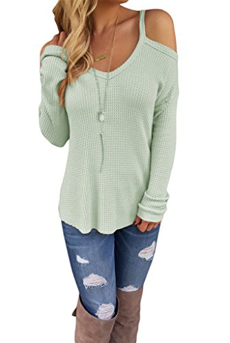 Dokotoo Womens Shoulder Knitted Sweater