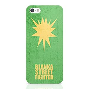 Loud Universe Blanka Street Fighter iPhone SE Case Minimal Street Fighter iPhone SE Cover with 3d Wrap around Edges
