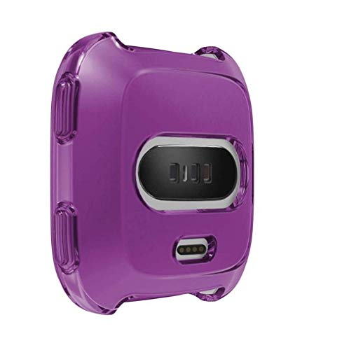Fashion Clearance! Noopvan Fitbit Versa Protector, Soft TPU Protection Silicone Full Case Cover for Fitbit Versa (Purple) by Noopvan Strap (Image #5)