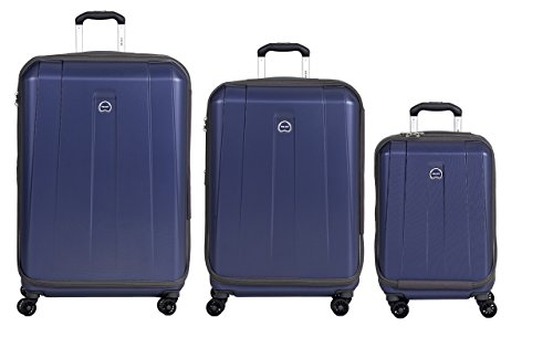 Delsey Luggage Shadow 3.0 Expand Hardside 21x25x29 Inches Luggage Set (Navy Blue)