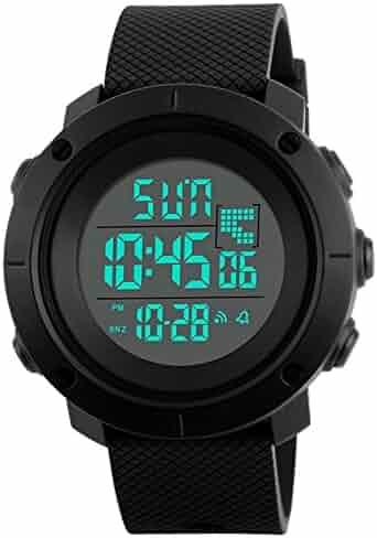 Boys Watch Digital Sports Waterproof Military Back Light Teenager Watch Ages 11-20 Black