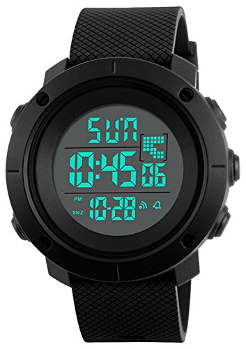 Boys Watch Digital Sports Waterproof Military Back Light Teenager Watch Black (Age for 12-20)