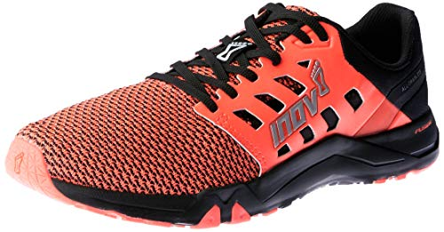 Inov-8 Womens All Train 215 Knit | Lightweight Cross Training Athletic Shoe | for Versatile Training | Great Support When Weight Lifting and Power Lifting |Black/Pink M7.5/ W9 Cross Training Athletic Shoe