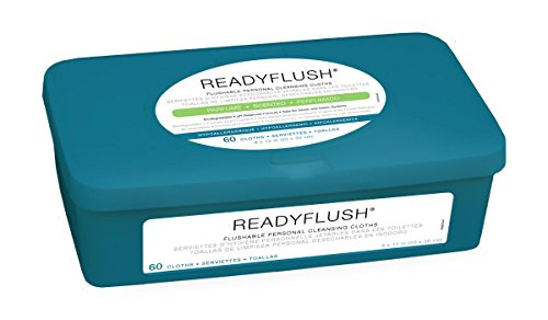 Medline ReadyFlush 8x12 Personal Cleansing Cloths - Tub - Wet Deodorant