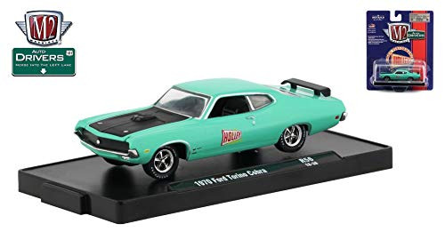 M2 Machines 1970 Ford Torino Cobra (Holley) Auto-Drivers Release 56 - Castline 2019 Special Edition 1:64 Scale Die-Cast Vehicle & Custom Display Base (R56 18-38) ()