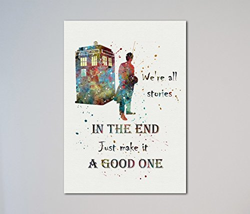 Tardis Doctor Who Quote Dr. Who time machine - Shipping Usps Express Time