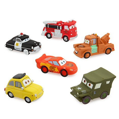 Disney Parks Exclusive Deluxe Cars 6 Piece Squeeze Toy (Disney Cars Bath)