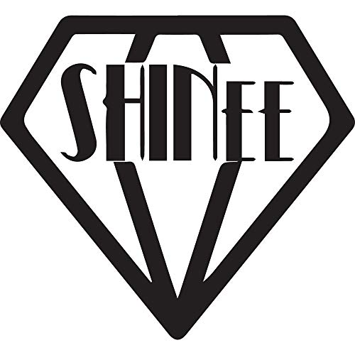 NBFU DECALS Shinee Diamonds (Black) (Set of 2) Premium Waterproof Vinyl Decal Stickers for Laptop Phone Accessory Helmet CAR Window Bumper Mug Tuber Cup Door Wall Decoration
