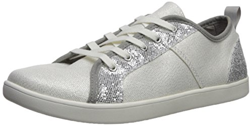 UGG Girls K Irvin Sparkles Sneaker, Silver, 5 M US Big Kid