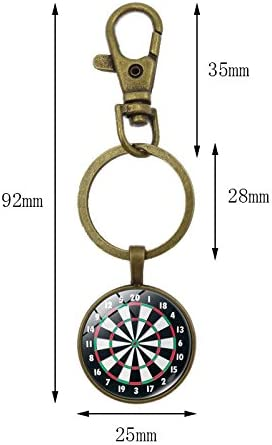 DaoRier Darts Target Pendant Key Ring Accessories Hanging Ornaments Pendant Decorations for Car Keys Phone Bag Style-2