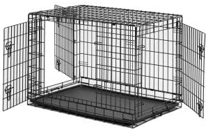 Aleko 3 Doors Dog Crate Cage With Abs Tray 24 L