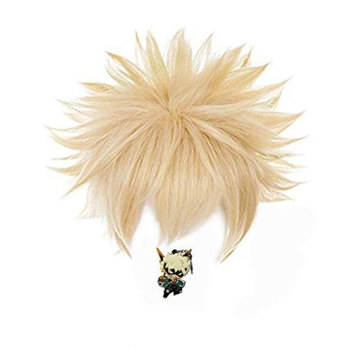 ZeroGoo Anime Cosplay Wig Include Wig Cap for Women Men Kid, Easy to Style Heat Resistant Wig for Halloween Costume Cosplay