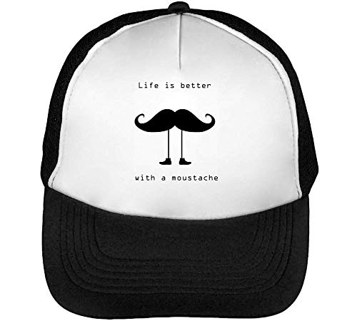 Hombre Negro Funny A Blanco Gorras Is Snapback Mustache Better Life Beisbol w1xOqYZWCS
