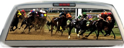 Horse Racing- 22 Inches-by-65 Inches- Rear Window Graphics