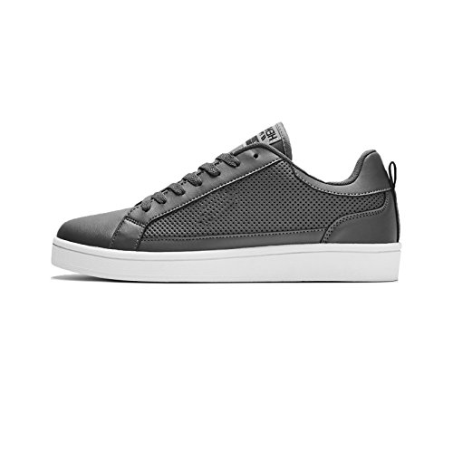 Henleys Drexel Cupsole Mens Lace up Trainers - Charcoal - UK 8