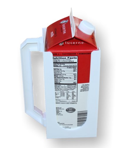 1/2 Gallon Milk - Carton Caddy XL Milk Holder, Juice Holder, 1/2 Gallon Carton Holder