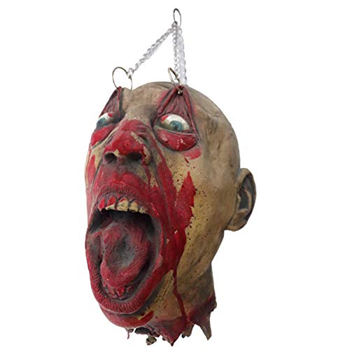 Amosfun Horror mask Scary Latex mask Masquerade Skeleton Zombie costumeMardi Gras Party Cosplay Decoration Photo Booth Props ()