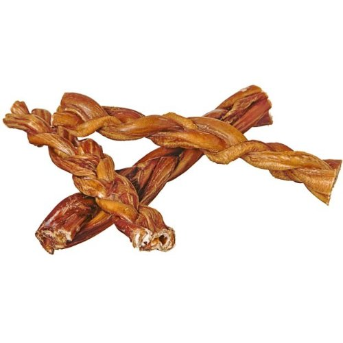 7'' Braided Bully Sticks for Dogs (25 Pack) - Natural Bulk Dog Dental Treats & Healthy Chews, Chemical Free, 7 inch Best Low Odor Pizzle Stix by Pawstruck