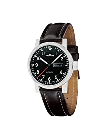 Fortis Spacematic Automatic Black Dial Black Leather Mens Watch 623.10.71 L01