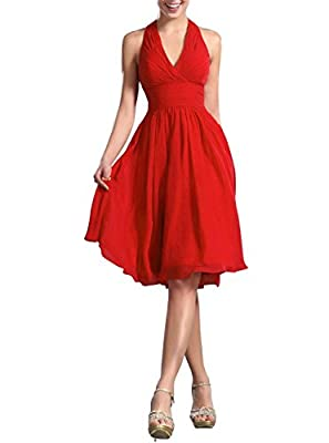 VaniaDress Women Halter Low Back Short Cocktail Party Dress Prom Gowns V200LF