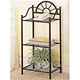 # 2429 3-Tier Traditional Sunburst Design Telephone Table Stand With Shelves In Sand...