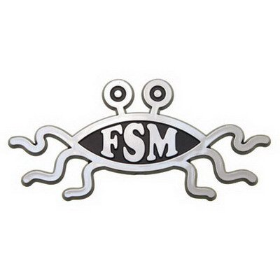 Ring Of Fire Flying Spaghetti Monster Car Emblem ()