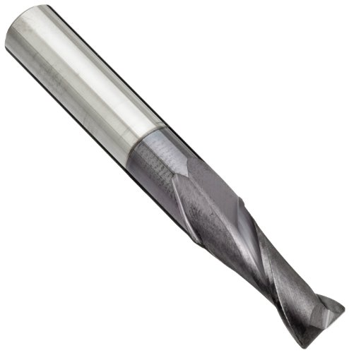 Melin Tool AMG-M-M Carbide Corner Radius End Mill, Metric, AlTiN Monolayer Finish, 30 Deg Helix, 2 Flutes, 50mm Overall Length, 5mm Cutting Diameter, 5mm Shank Diameter, 0.4mm Corner Radius