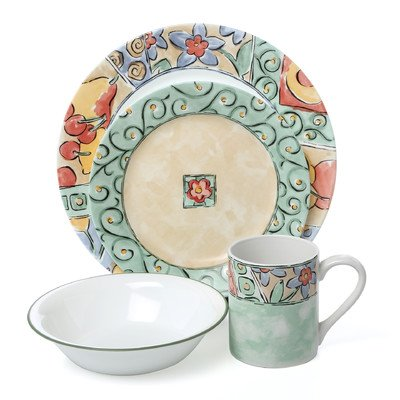 Corelle Impressions Watercolors 16 Piece Dinnerware Set  sc 1 st  Amazon UK & Corelle Impressions Watercolors 16 Piece Dinnerware Set: Amazon.co ...