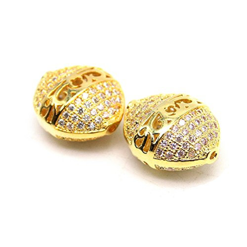 (Beautiful Bead A Pair of Kettle Shaped Design Findings Pendants Golden Color)